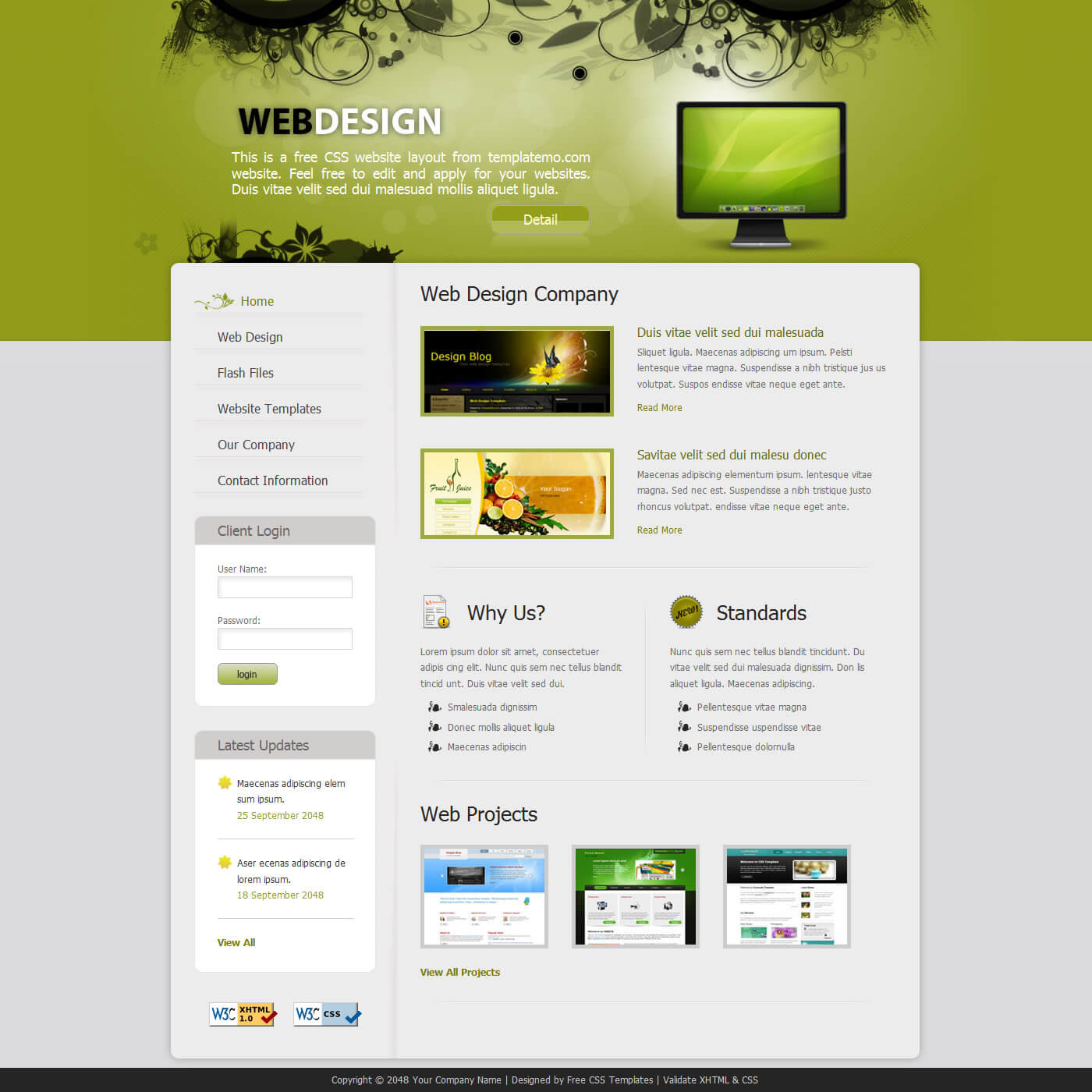 template design quick fast website easy cheap no support