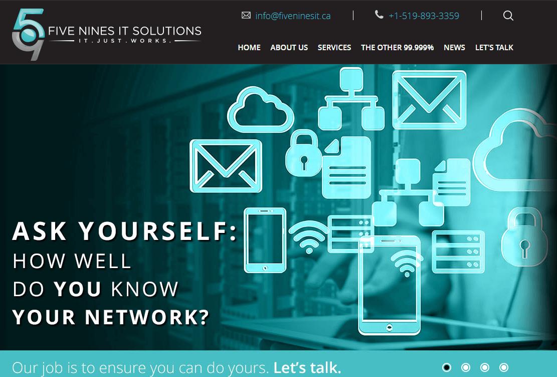 Featured Client - Five Nines IT Web Design Development Kitchener ...