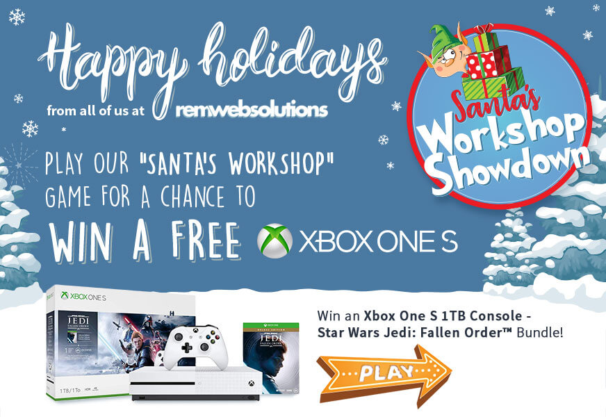 Play Santa's Workshop Showdown for a chance to win an Xbox One S