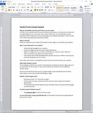 Screenshot of a Sample Word Document