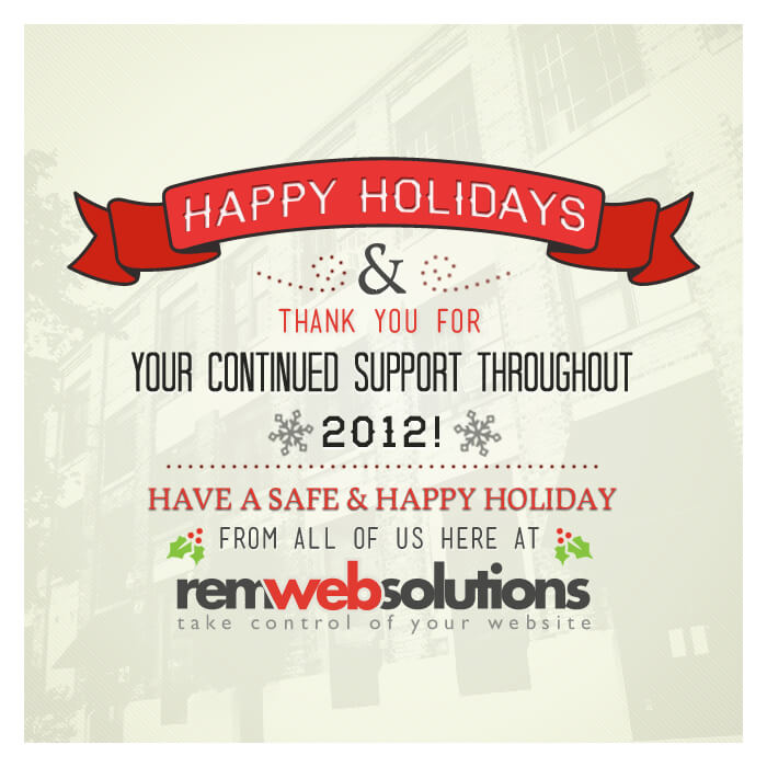 Happy Holidays from REM Web Solutions