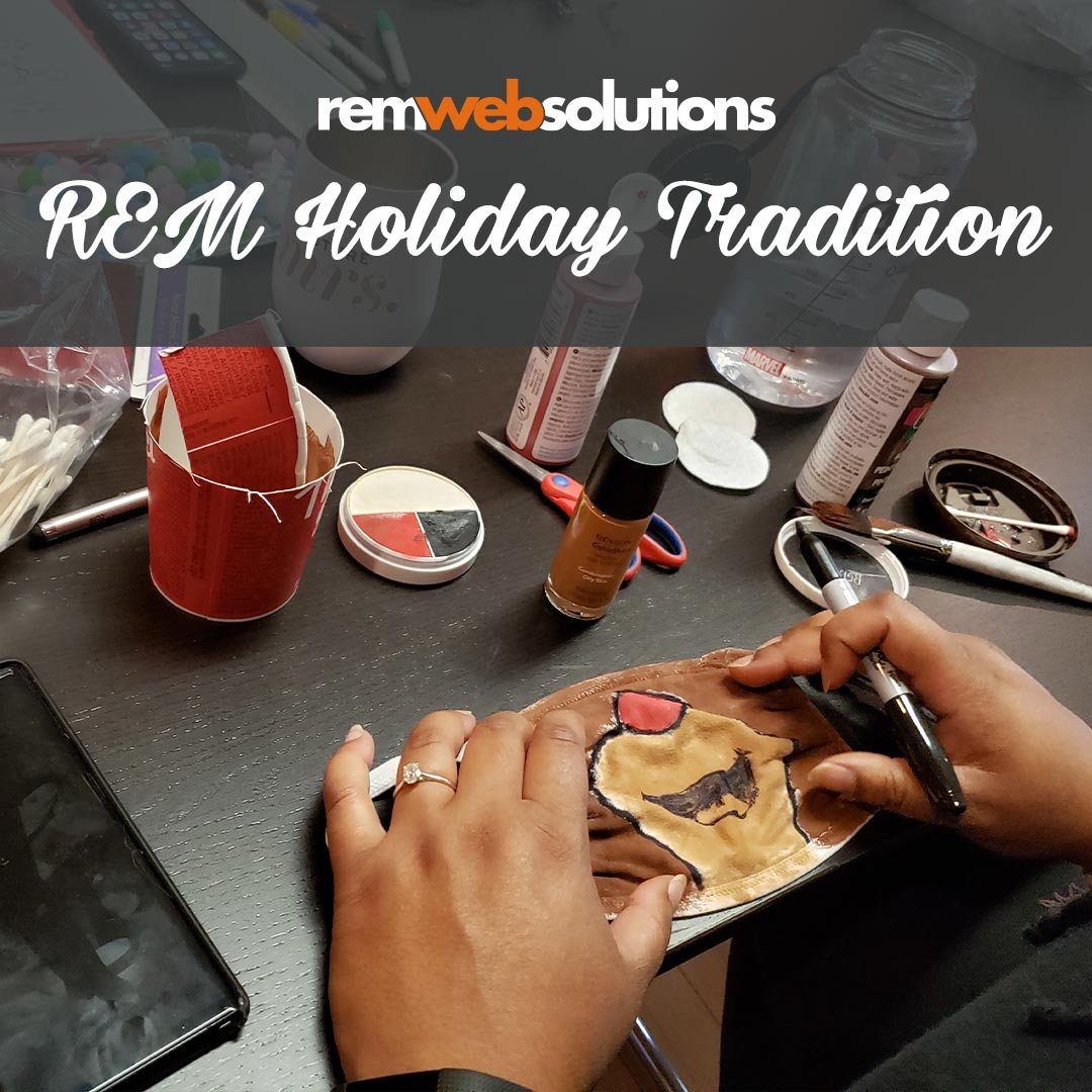 The REM team crafting together for a holiday theme