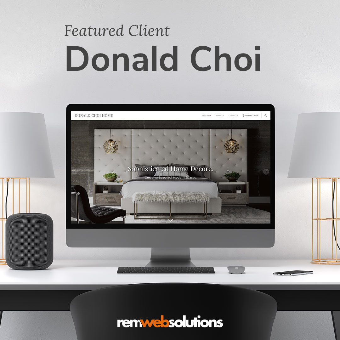 Donald Choi website on a computer monitor