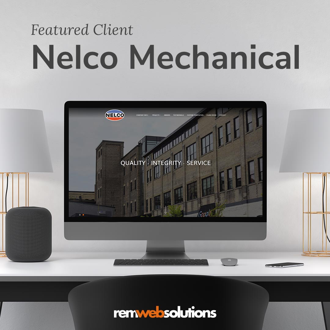Nelco Mechanical website on a computer monitor